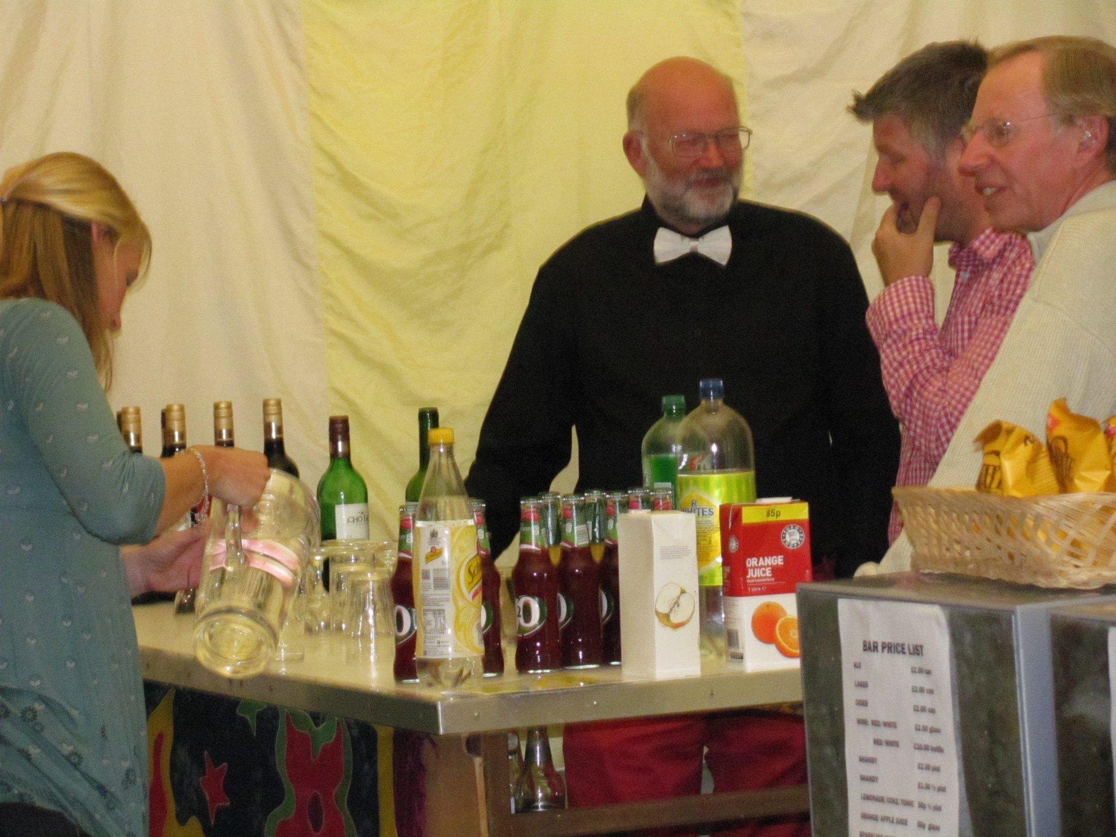 Bar at a festival night